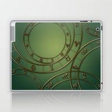 Zodiac circles and signs green Laptop & iPad Skin