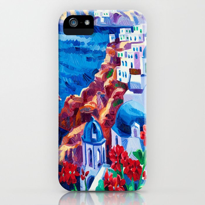 Santorini churches iPhone Case