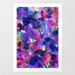 Monet's Violet Garden Art Print