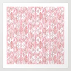 Harlequin Marble Mix Blush Art Print