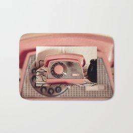Retro rotary dial phone Bath Mat