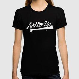 batter up skeleton bones T-shirt