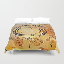 Enso Calligraphy Duvet Cover