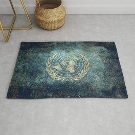 The United Nations Flag - Vintage version Rug