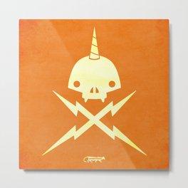 Yeticorn Skull & Bolts  Metal Print