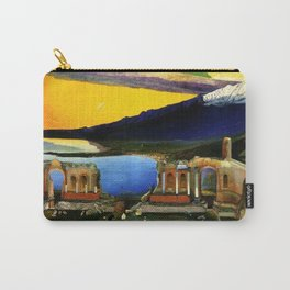 Sicily, Ruins of the Greek Theater at Taormina by Csontvary Kosztka Tivadar Carry-All Pouch