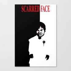 Scarred Face Canvas Print