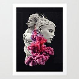 Controversy Smoke Art Print