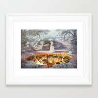 thegnarledbranch Framed Art Prints featuring On the Way to Church by TheGnarledBranch