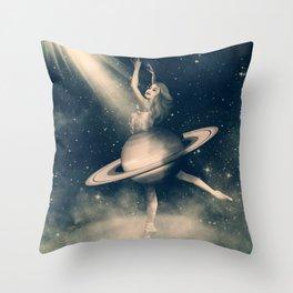 When Saturn Starts Dancing Throw Pillow
