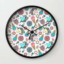 Unicorns and sweets Wall Clock