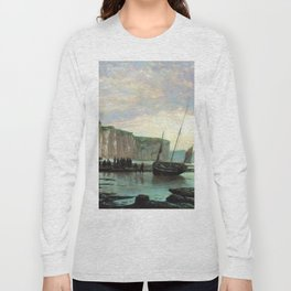 Normandy Beach 1859 By Lev Lagorio | Reproduction | Russian Romanticism Painter Long Sleeve T-shirt