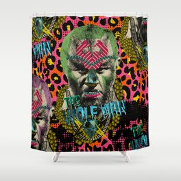The Wolf Man Shower Curtain