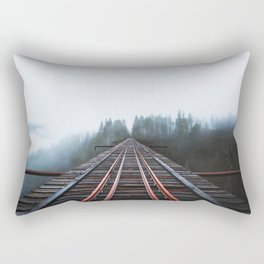 Abandoned Railroad Vance Creek Bridge - Olympic National Park, Washington Rectangular Pillow