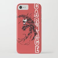 carnage iPhone & iPod Cases featuring Carnage by Young Jake