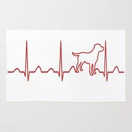 Labrador Retriever Heartbeat Rug