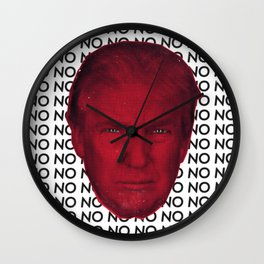 Resist Trump Wall Clock