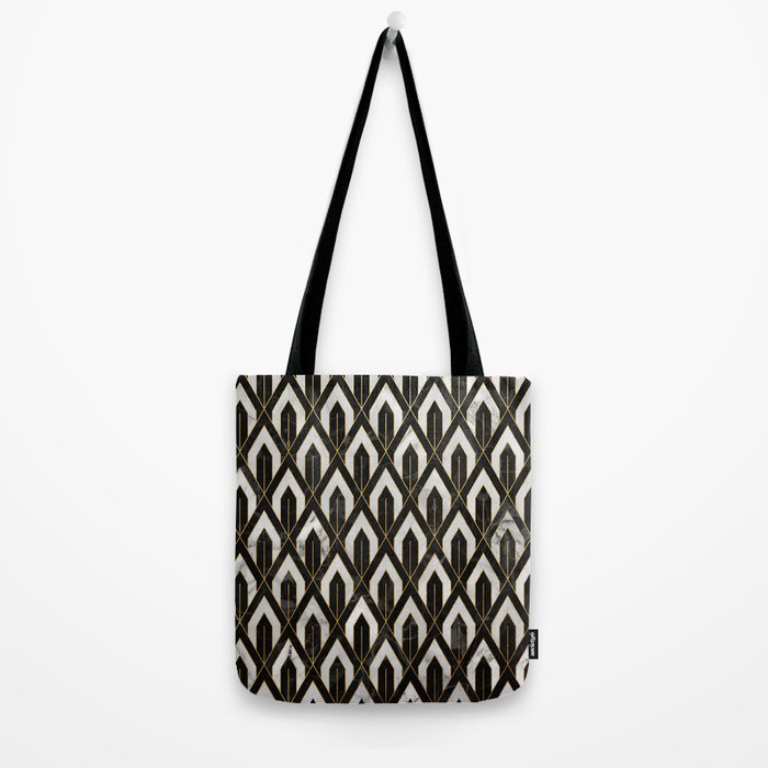 Art Deco Marble Pattern Tote Bag