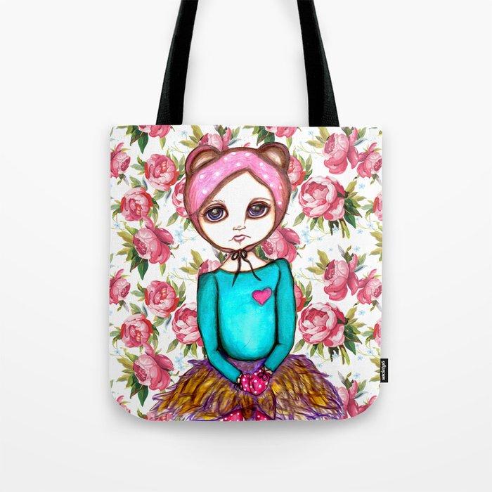 Bear Girl Tote Bag
