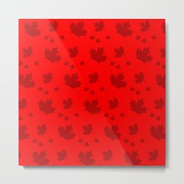 Canada Maple Leaf-Large-Red Metal Print