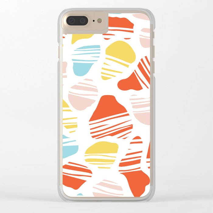 Okapi Animal Print Clear iPhone Case