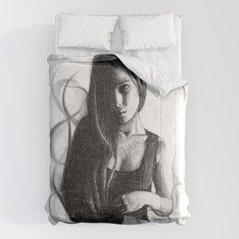 Smoke girl Comforters
