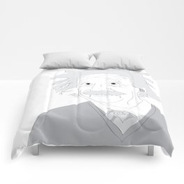 Albert Einstein Illustration Comforters