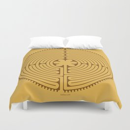 Chartres Labyrinth Duvet Cover