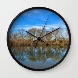 DE - Baden-Württemberg : Lake island Wall Clock