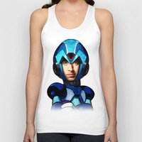 megaman Tank Tops featuring Megaman wolowitz by seb mcnulty