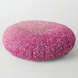 Pink Ombre Glitter Floor Pillow