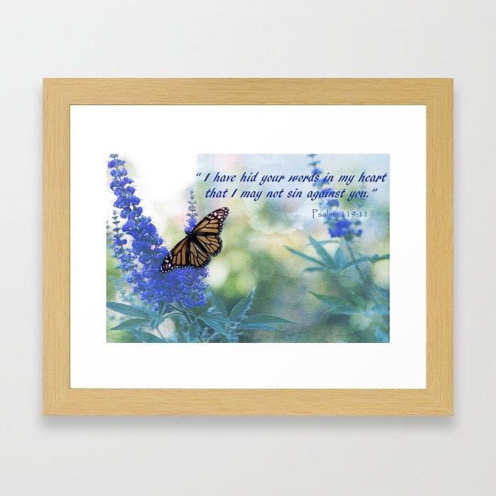 Butterfly Psalms  Framed Art Print