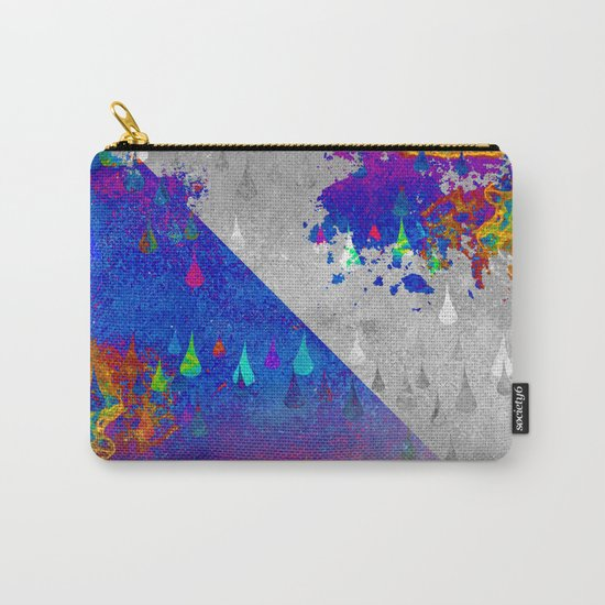 Abstract Colorful Rain Drops Design Carry-All Pouch