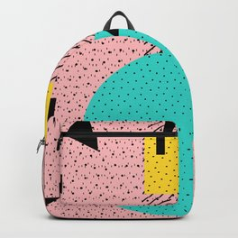 Hello Memphis Peach Berry Backpack