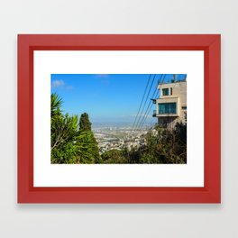 peeking on Haifa Framed Art Print