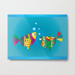 Fishy Fishy Metal Print