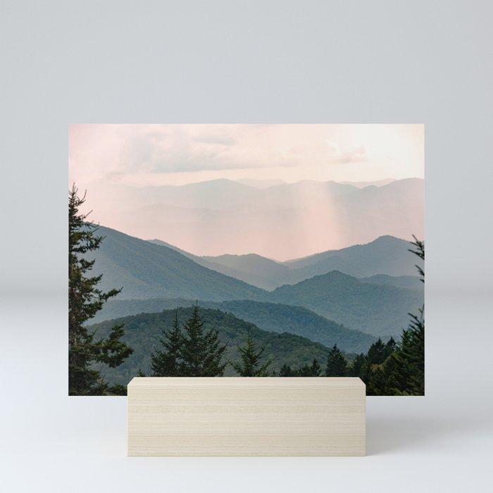 Smoky Mountain Pastel Sunset Mini Art Print