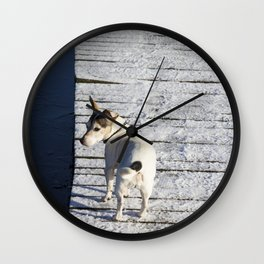 Dog going home Wall Clock
