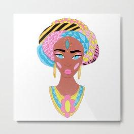 Colorful African Woman Metal Print