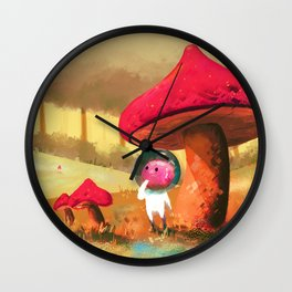 Mush Mush Planet Wall Clock