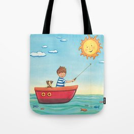 Happy Fishing Day Tote Bag
