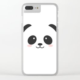 black and white panda Clear iPhone Case