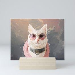 Fashion Portrait Cat Mini Art Print