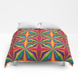 Psychedelic Squares Comforters
