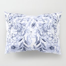 Watercolor grey floral hand paint Pillow Sham