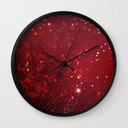 Background Color Marsala Wall Clock