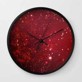 Background Color Marsala Wall Clock