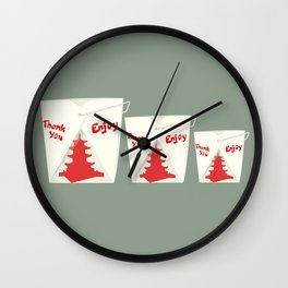 Support Local Restaurants - Chinese Takeout Box Wall Clock