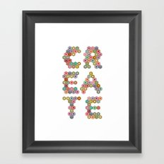 Colored Pencils Framed Art Print