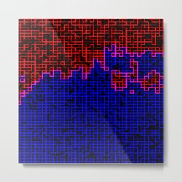 Bleeding Pixels Metal Print